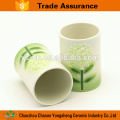 100% Hand Painted Yellow flower Ceramic Bathroom Set